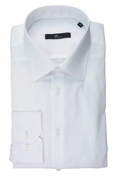 Venti Hemd - Slim Fit - weiss, Einfarbig
