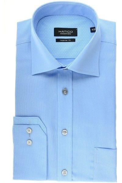 Hatico Hemd - Regular Fit - hellblau, Einfarbig