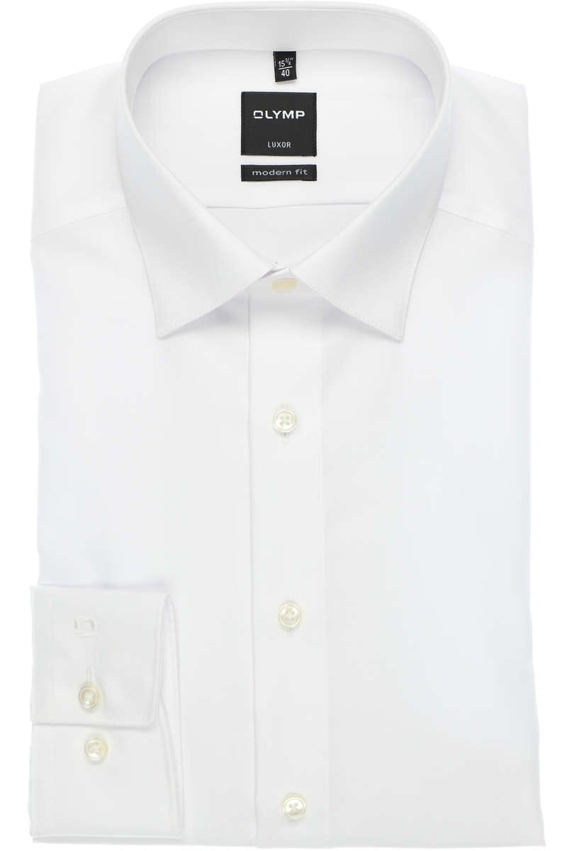 Olymp Hemd - Modern Fit - white, One Colour 45 - XXL