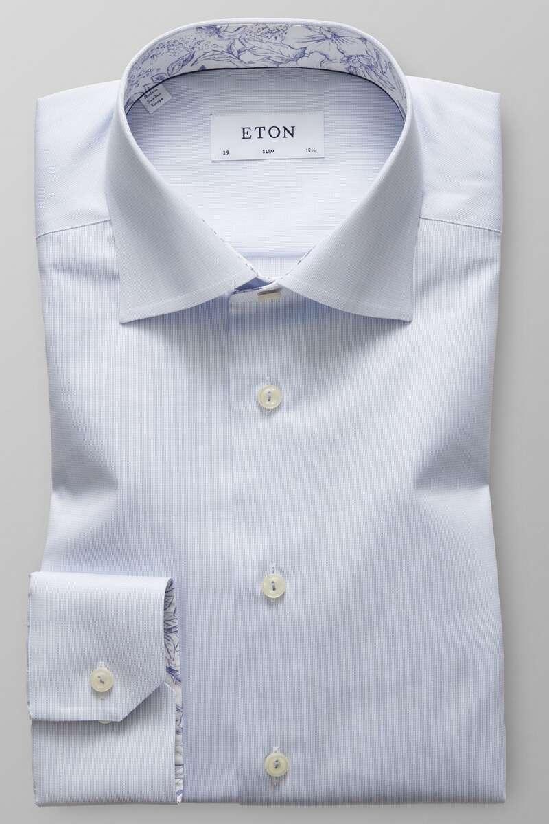 ETON Slim Fit Hemd hellblau, Einfarbig 39 - M