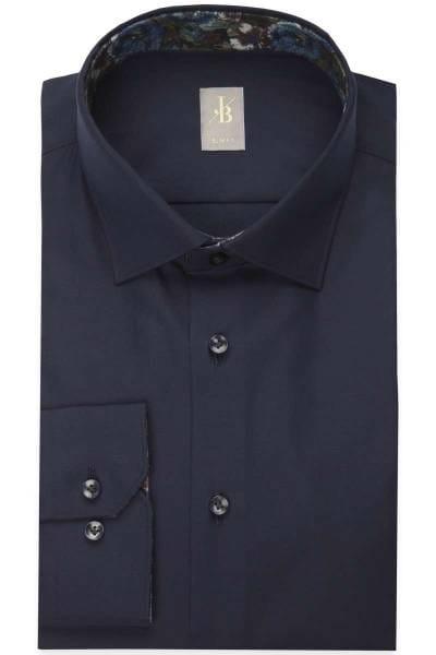 Jacques Britt Slim Fit Hemd nachtblau, Einfarbig