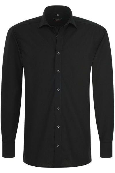Eterna Hemd - Modern Fit - schwarz, Einfarbig