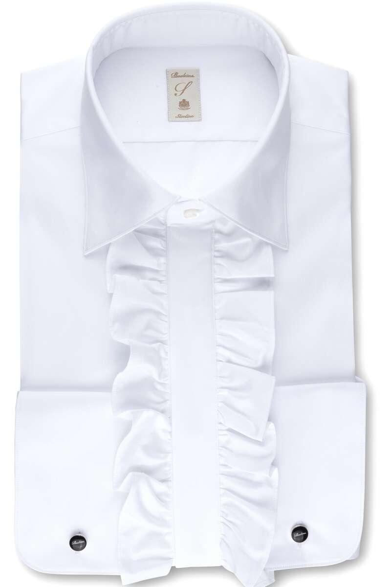 Stenströms Slimline Hemd weiss, Einfarbig 40 - M