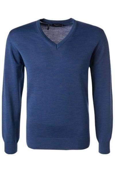März Strick - V-Ausschnitt Pullover - blau