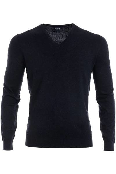 Olymp Strick - V-Ausschnitt Pullover - graphit