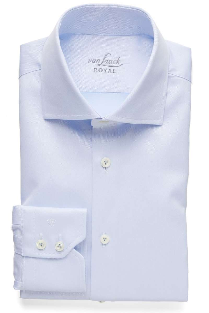 van Laack Slim Fit Hemd hellblau, Einfarbig 40 - M