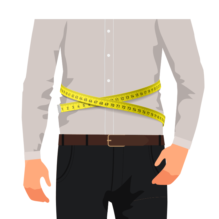 ETERNA Maßhemd Taillenweite messen