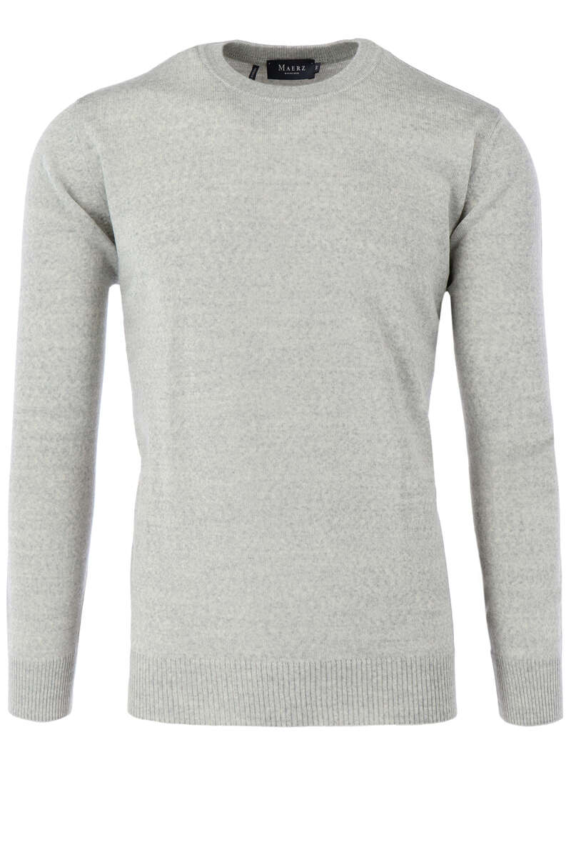 Maerz Casual Classic Fit Pullover Rundhals hellbraun, einfarbig 48