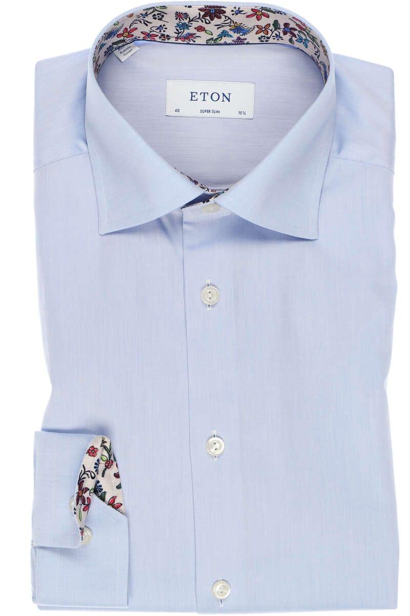 ETON Super Slim Hemd blau, Einfarbig 40 - M