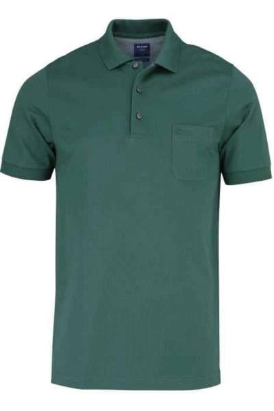 Olymp Poloshirt - Polo - grün, Einfarbig