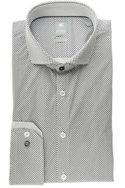 Pure Hemd - Extra Slim - grau/schwarz, Gemustert