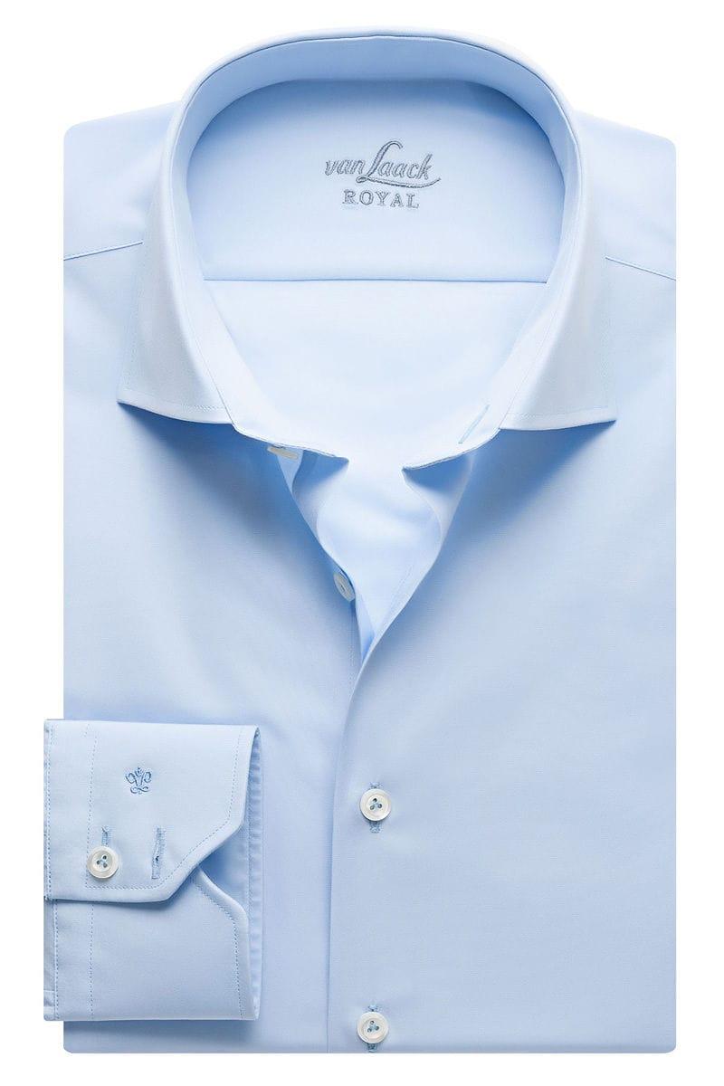 van Laack Slim Fit Hemd hellblau, Einfarbig 37 - S