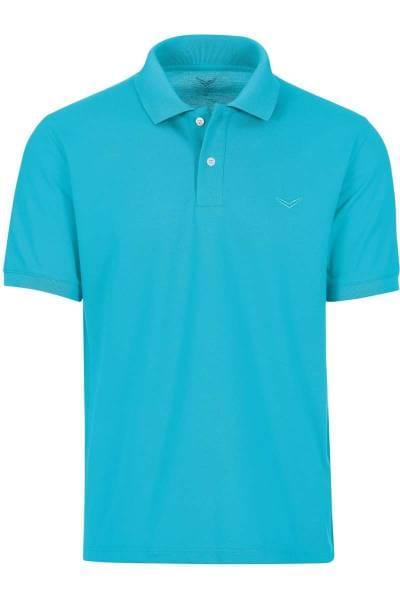 TRIGEMA Comfort Fit Poloshirt türkis, Einfarbig