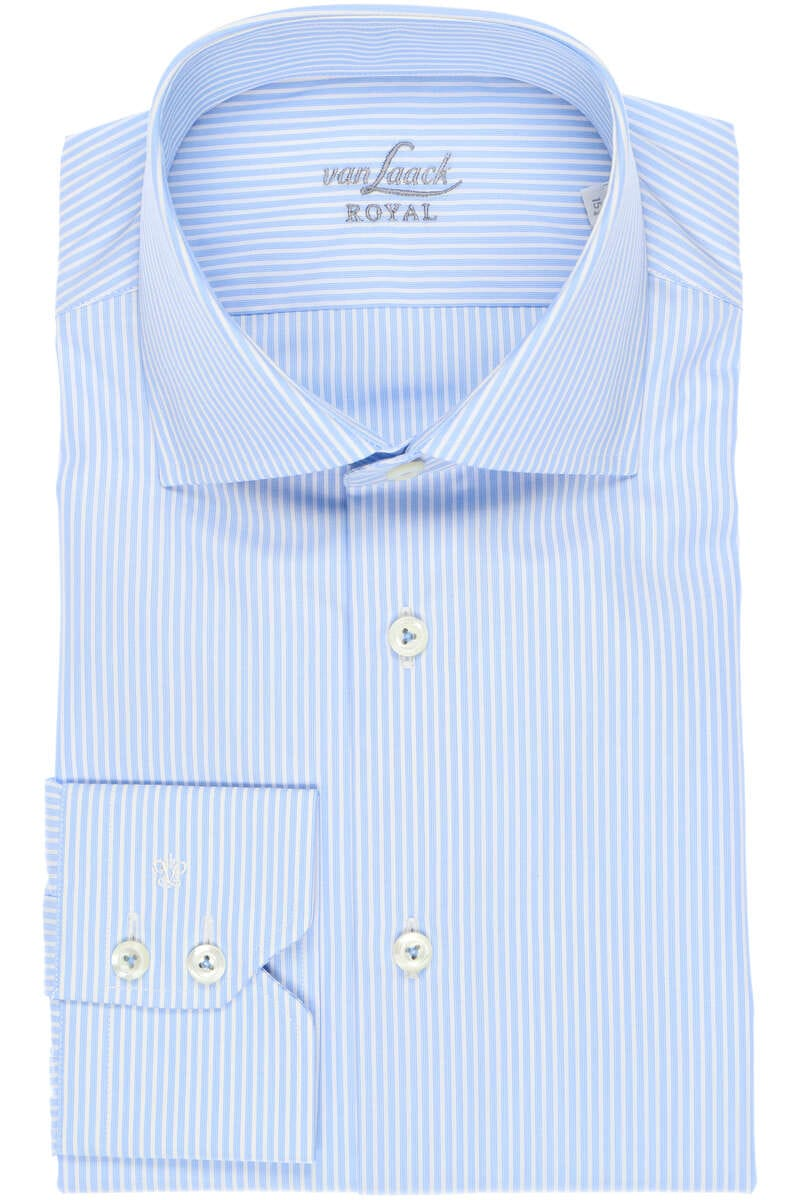 Van Laack Tailor Fit Hemd blau/weiss, Gestreift 40 - M