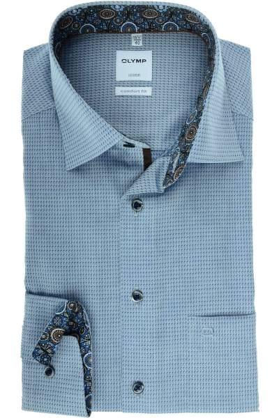 Olymp Luxor Comfort Fit Hemd marine, Strukturiert