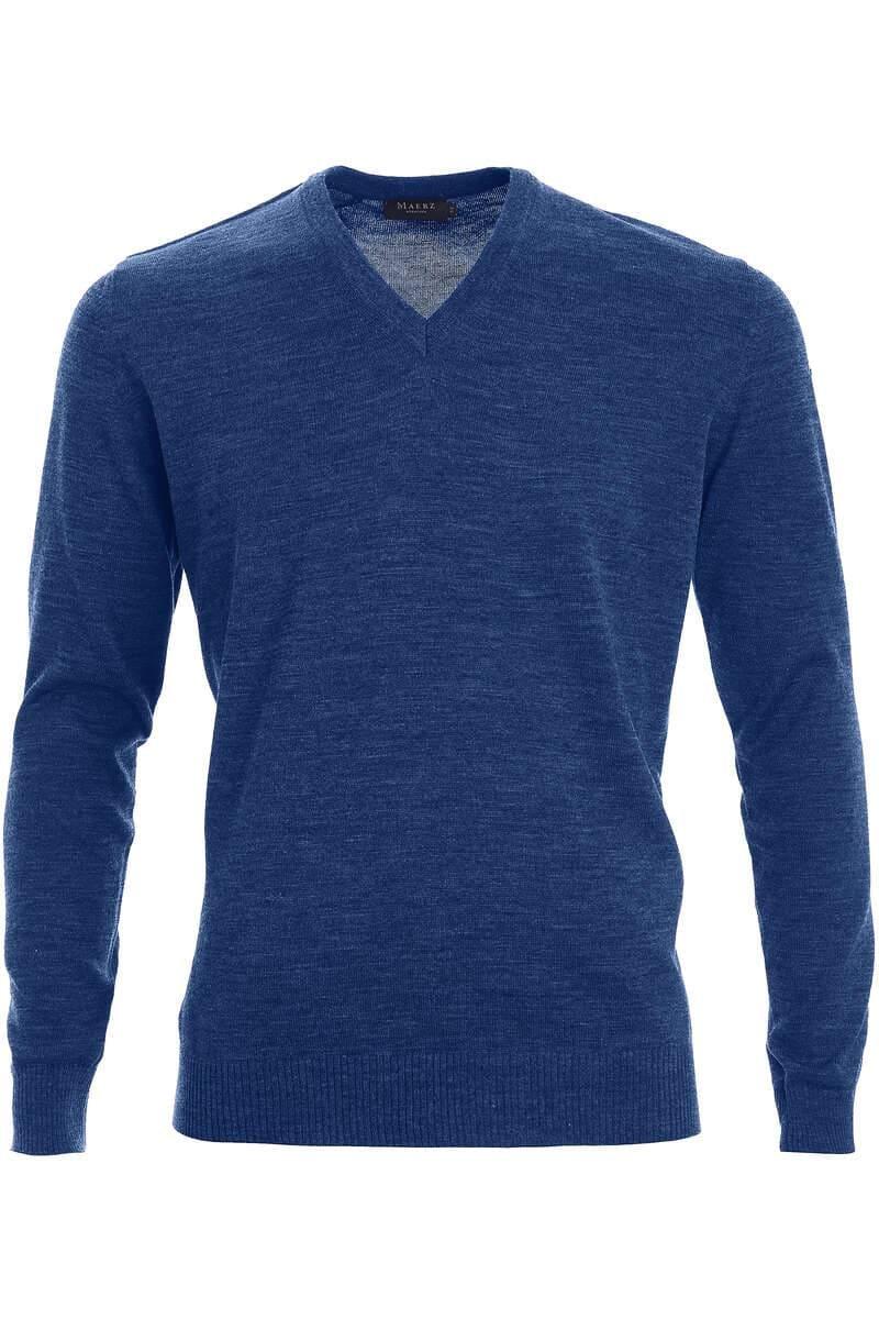 MAERZ Pullover V-Ausschnitt - blau