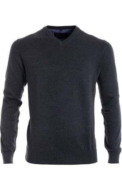 Marvelis Strick - V-Ausschnitt Pullover - anthrazit