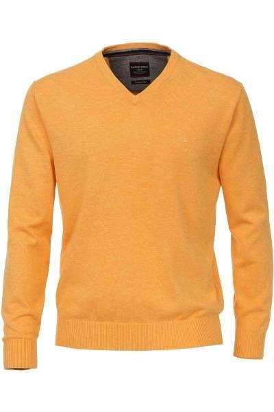 Casa Moda Strickpullover gelb, Einfarbig