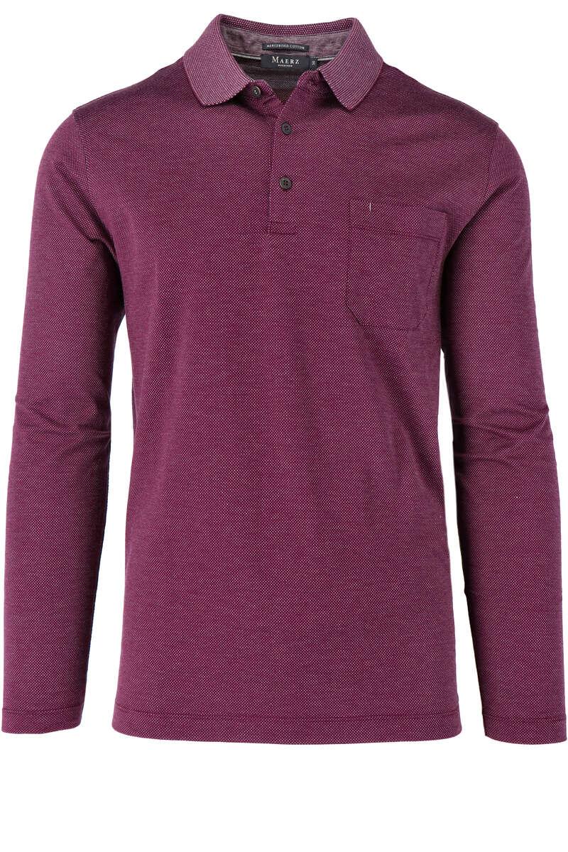 Maerz Modern Fit Sweatshirt Polokragen lila/weiss, gemustert 50