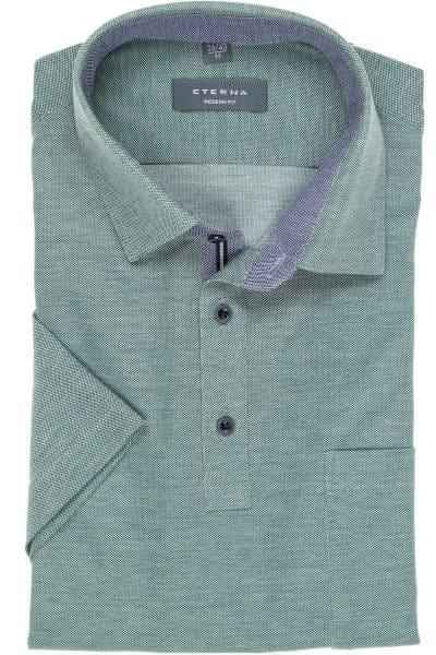 ETERNA Modern Fit Poloshirt grün, Einfarbig