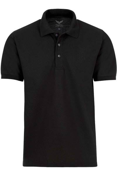 TRIGEMA Comfort Fit Poloshirt schwarz, Einfarbig
