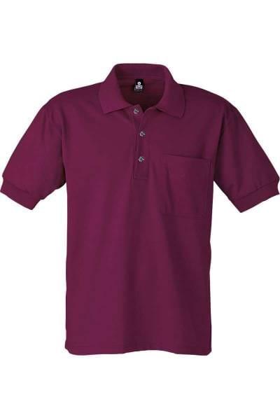 TRIGEMA Poloshirt - Comfort Fit - bordeaux, Einfarbig