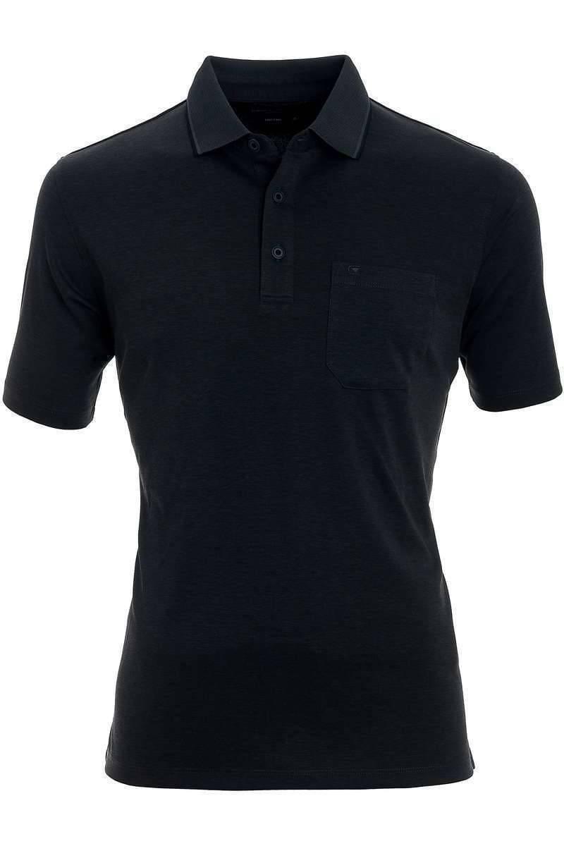 Casa Moda Poloshirt schwarz, melange