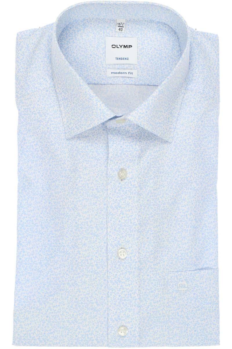 OLYMP Tendenz Modern Fit Hemd bleu/weiss, Blumen