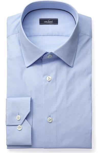 van Laack Slim Fit Hemd blau, Einfarbig
