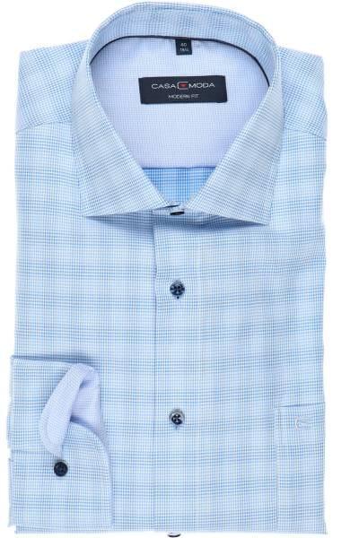 Casa Moda Modern Fit Hemd blau/bleu/weiss, Kariert