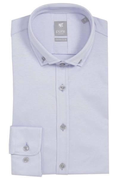 Pure Hemd - Extra Slim - hellblau, Einfarbig