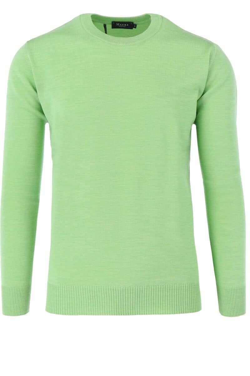 Maerz Casual Classic Fit Pullover Rundhals hellgrün, einfarbig 48