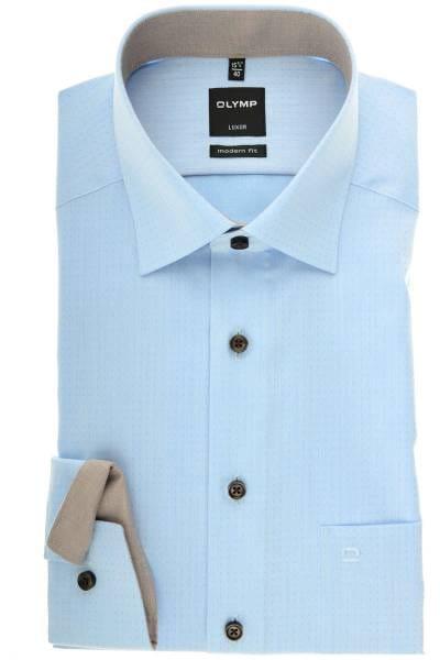 OLYMP Luxor Modern Fit Hemd bleu/blau, Gepunktet