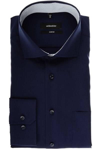 Seidensticker Comfort Fit Hemd dunkelblau, Einfarbig