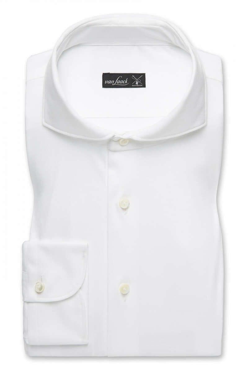 van Laack Slim Fit Jerseyhemd weiss, Einfarbig M
