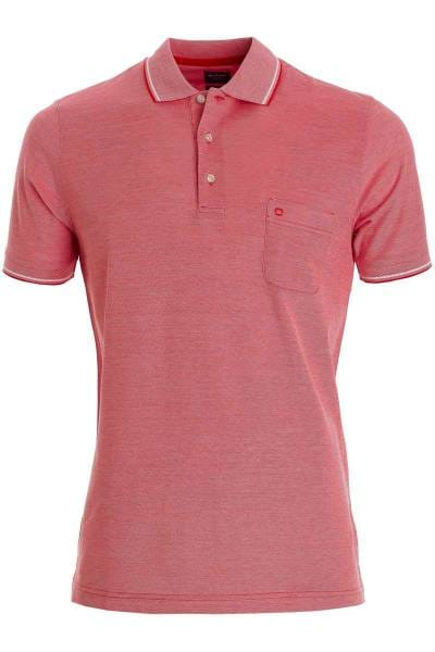 OLYMP Casual Modern Fit Poloshirt rot, melange