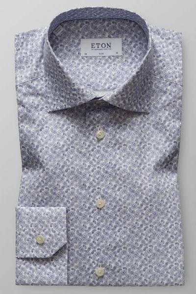 ETON Slim Fit Hemd blau/weiss, Paisley