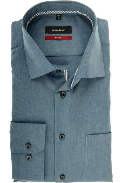 Seidensticker Modern Fit Hemd dunkelblau, Strukturiert
