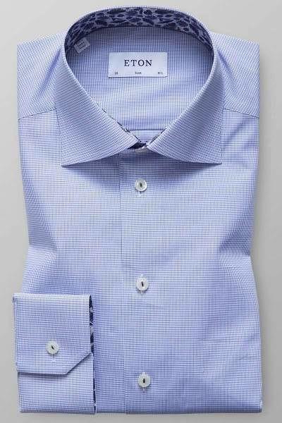 ETON Slim Fit Hemd blau/weiss, Vichykaro