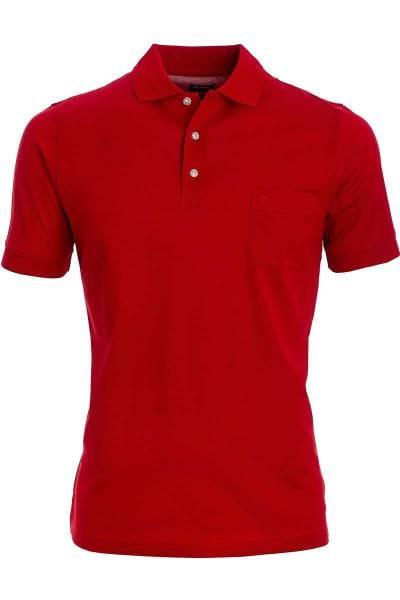 Olymp Poloshirt - Polo - rot, Einfarbig