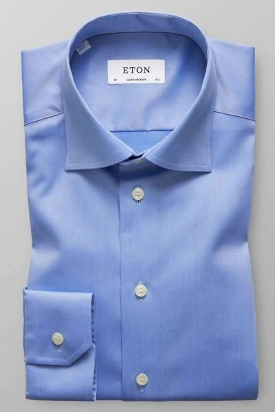 ETON Contemporary Fit Hemd blau, Einfarbig