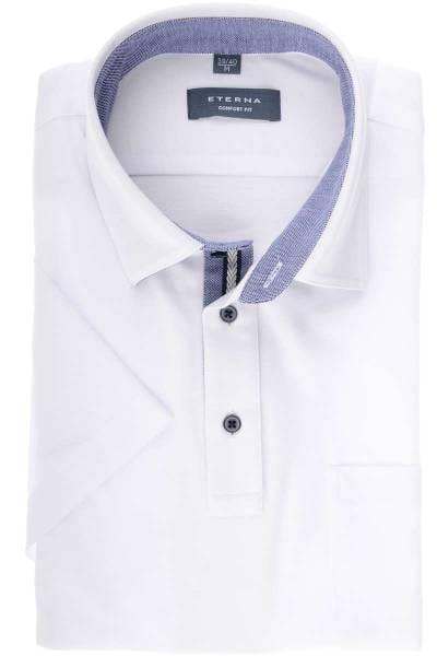 Eterna Comfort Fit Poloshirt weiß, Einfarbig