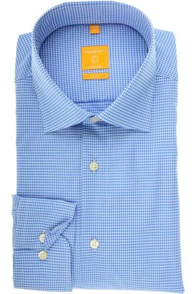 Redmond Modern Fit Hemd blau/weiss, Kariert