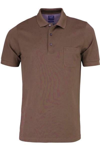 Olymp Poloshirt - Polo - oliv, Einfarbig