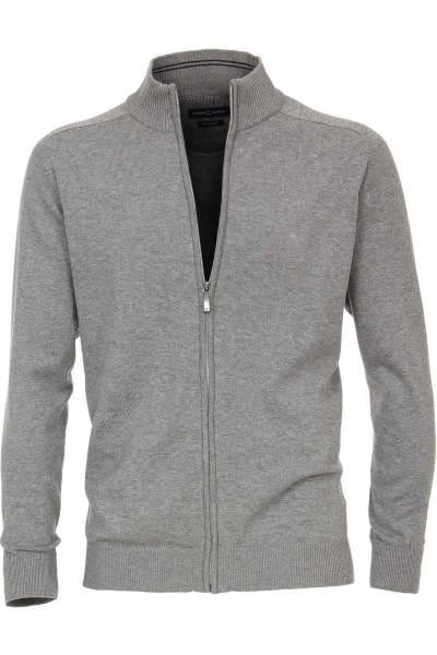 Casa Moda Cardigan Zipper grau, einfarbig