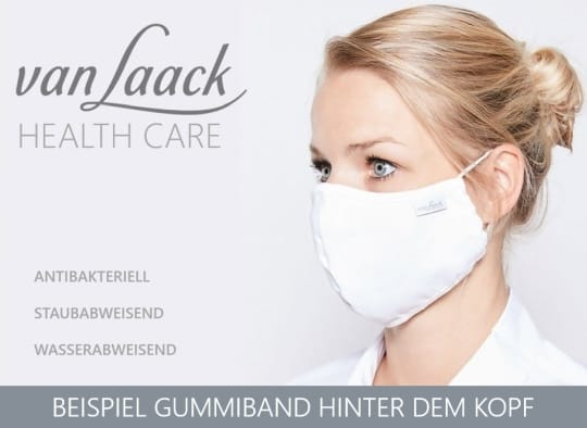 Van Laack face mask with rubber band behind the ear
