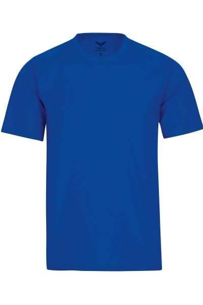 TRIGEMA T-Shirt Rundhals royal, einfarbig