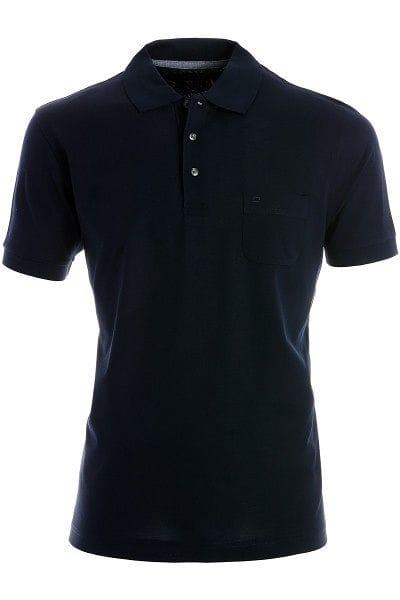 Olymp Modern Fit Poloshirt marine, Einfarbig
