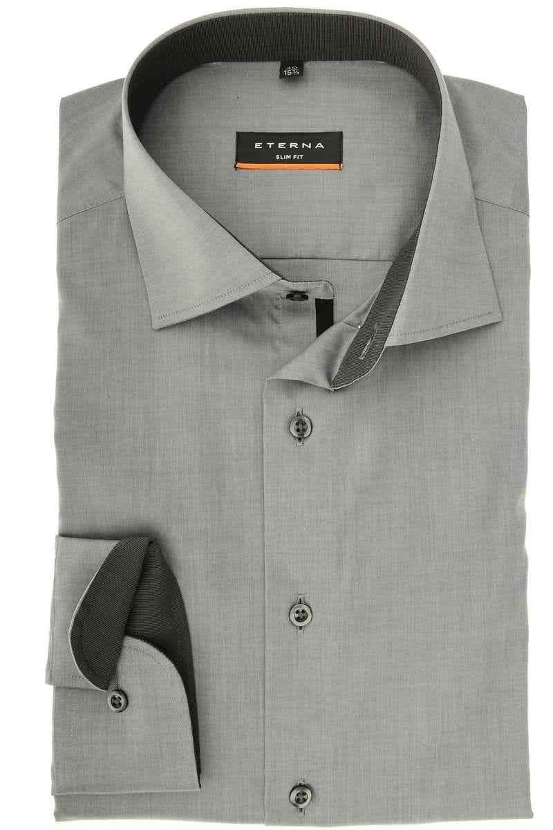 hochwertiges eterna slim fit hemd in der farbe grau ohne brusttasche der rmeltyp ist langarm. Black Bedroom Furniture Sets. Home Design Ideas
