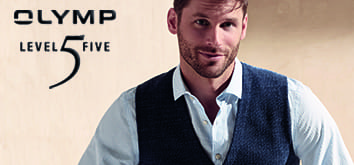 829d86d7 The tailored, fitted Business OLYMP Level 5 Five shirt with natural comfort  stretch for maximum wearing comfort. Slim cut, narrow button-panel, ...